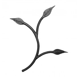 Wrought iron leaves 250-03