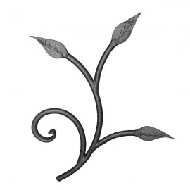 Wrought iron leaves 250-04