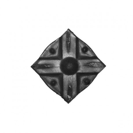 Wrought iron rosette 252-03