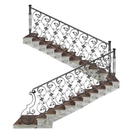 Wrought iron staircase E0003