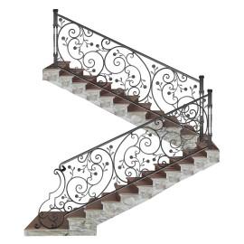 Wrought iron staircase E0009