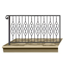 Wrought iron railing BD0007