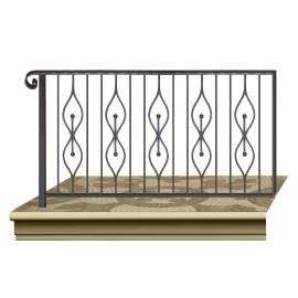 Wrought iron railing BD0008