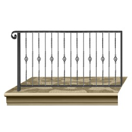 Wrought iron railing BD0011