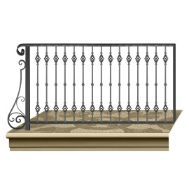 Wrought iron railing BD0012