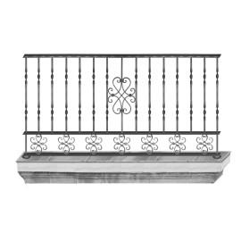 Wrought iron balcony B0001