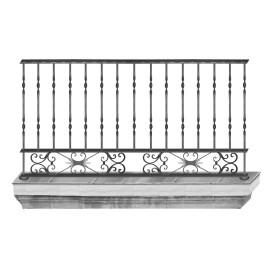 Wrought iron balcony B0002