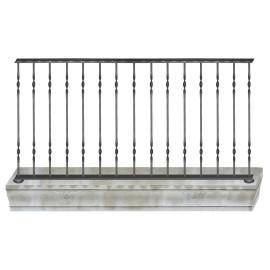 Wrought iron balcony B0003