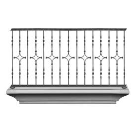 Wrought iron balcony B0005