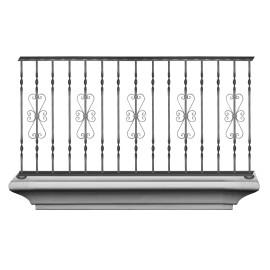 Wrought iron balcony B0006