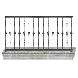 Wrought iron balcony B0009