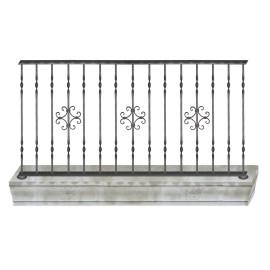 Wrought iron balcony B0010