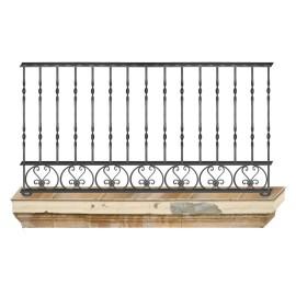 Wrought iron balcony B0011