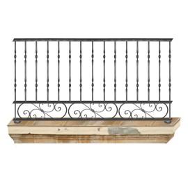 Wrought iron balcony B0012