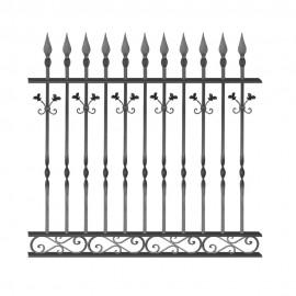 Wrought iron fence V0001