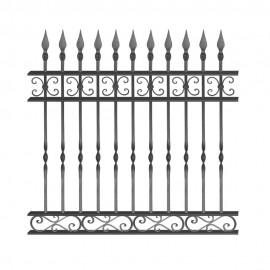Wrought iron fence V0002