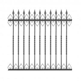 Wrought iron fence V0004