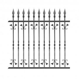 Wrought iron fence V0005