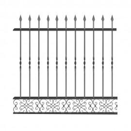 Wrought iron fence V0006