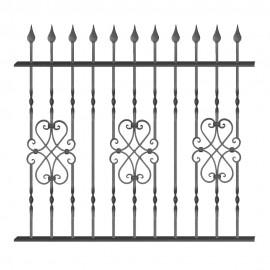 Wrought iron fence V0007