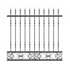 Wrought iron fence V0008