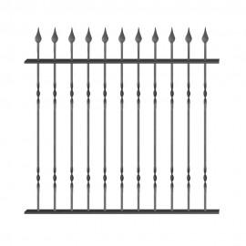 Wrought iron fence V0009