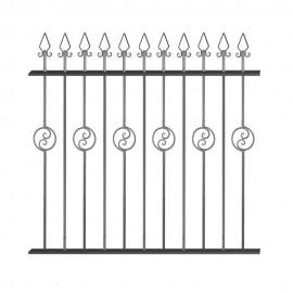 Wrought iron fence V0011