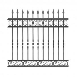 Wrought iron fence V0012