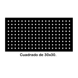 Perforated iron plate 409-04