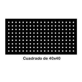 Perforated iron plate 409-05
