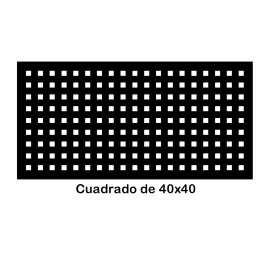 Perforated iron plate 409-08