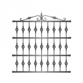 Wrought iron window grilles R0003
