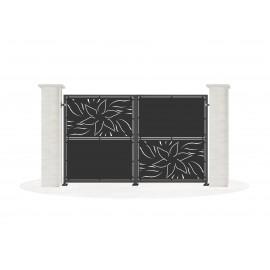 Sheet metal doors model ZINNIA