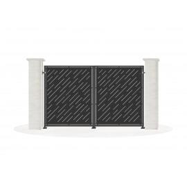 Sheet metal doors model GAROA