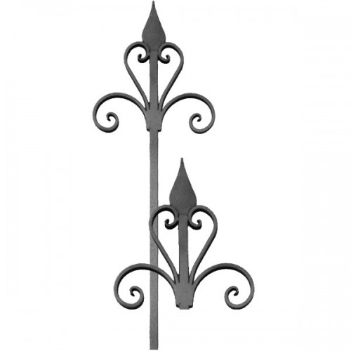 Wrought iron spears 450-14