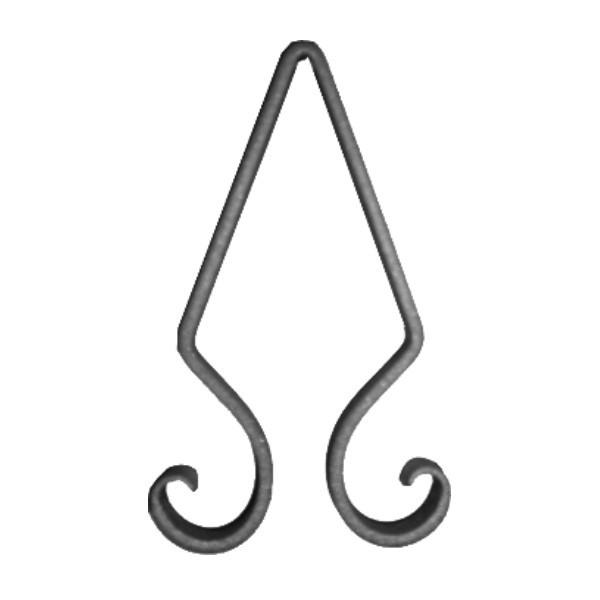 Lanza de hierro forjado 450 16 forja rafael c b - Cabeceros de hierro forjado ...