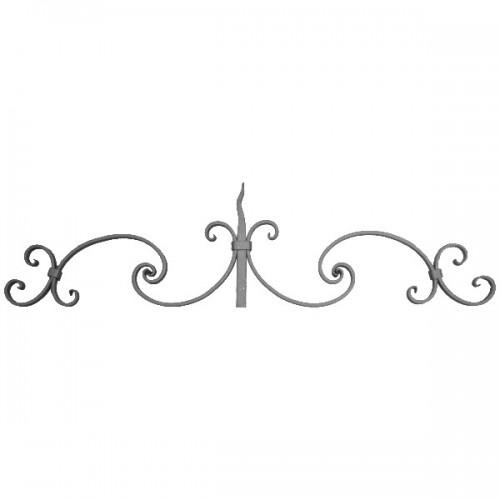 Wrought iron bar headboard 500-04