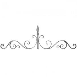 Wrought iron bar headboard 500-06