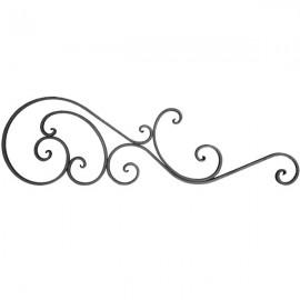 Wrought iron bar headboard 501-01