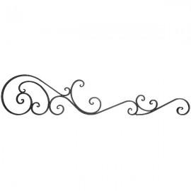 Wrought iron bar headboard 501-02