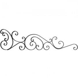 Wrought iron bar headboard 501-03