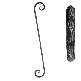 Wrought iron balustrade 550-12