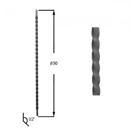 Wrought iron heavy bars 551-08