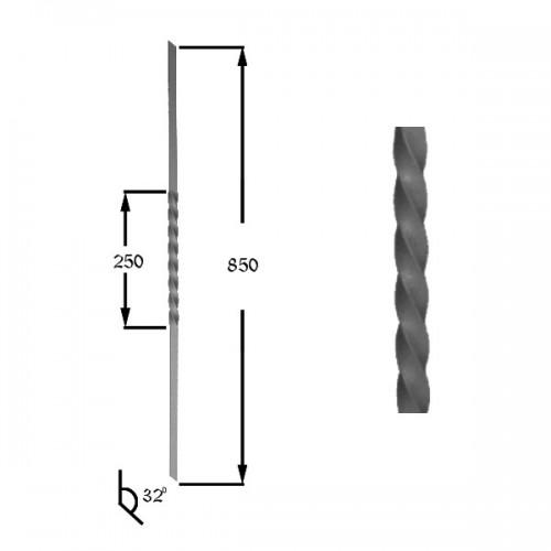 Wrought iron heavy bars 551-09
