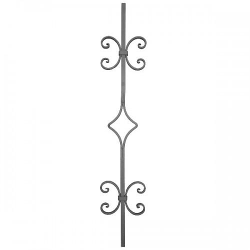 Wrought iron heavy bars 552-13