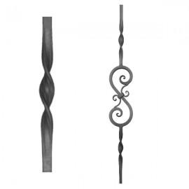 Wrought iron heavy bars 555-04