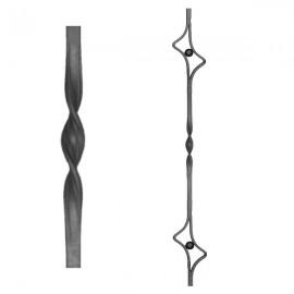 Wrought iron heavy bars 555-06