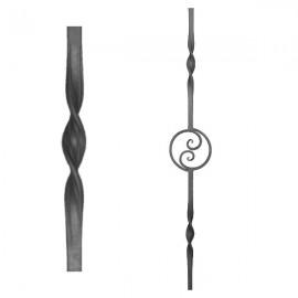 Wrought iron heavy bars 555-13