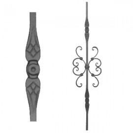 Wrought iron stamped heavy bar 556-10