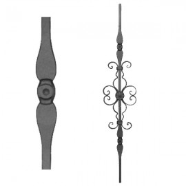 Wrought iron stamped heavy bar 556-11